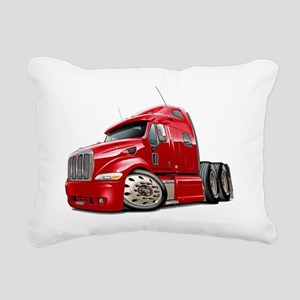 Peterbilt 587 Red Truck Rectangular Canvas Pillow
