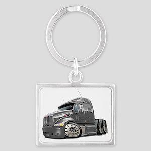 Peterbilt 587 Grey Truck Landscape Keychain