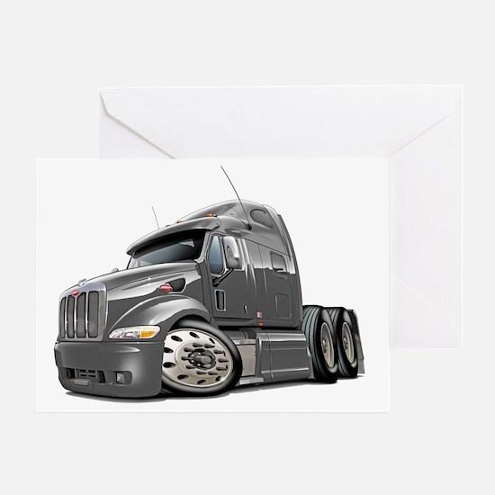 Peterbilt 587 Grey Truck Greeting Card