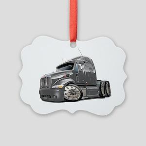 Peterbilt 587 Grey Truck Picture Ornament