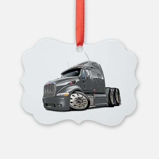 Peterbilt 587 Grey Truck Ornament