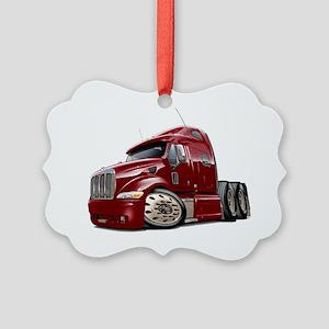 Peterbilt 587 Maroon Truck Picture Ornament