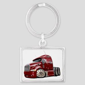 Peterbilt 587 Maroon Truck Landscape Keychain