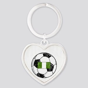 nigeria soccerballGRN Heart Keychain