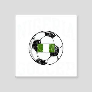 """nigeria soccerballGRN Square Sticker 3"""" x 3"""""""