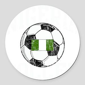 nigeria soccerballGRN Round Car Magnet