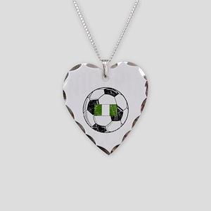 nigeria soccerballGRN Necklace Heart Charm
