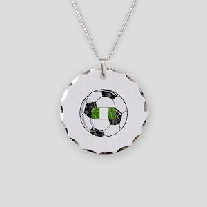 nigeria soccerballGRN Necklace Circle Charm