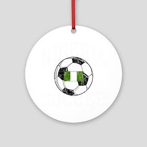 nigeria soccerballGRN Round Ornament