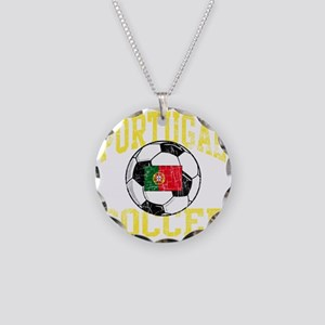 portugal soccerballRED Necklace Circle Charm