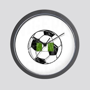 nigeria soccerballGRN Wall Clock