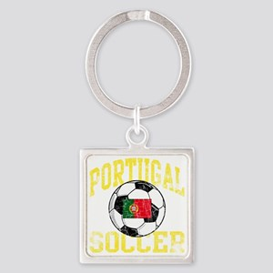 portugal soccerballRED Square Keychain
