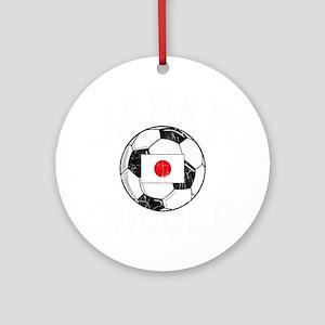 japan soccerballROY Round Ornament
