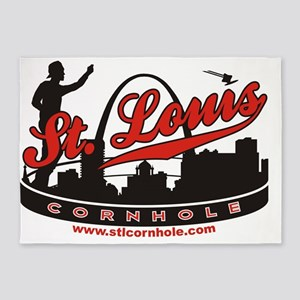STL-Logo 5'x7'Area Rug