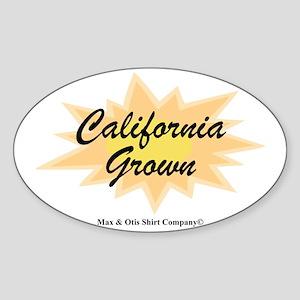 2-california-grown Sticker (Oval)