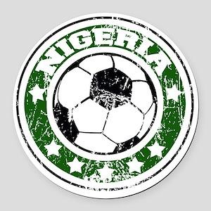 nigeriad Round Car Magnet