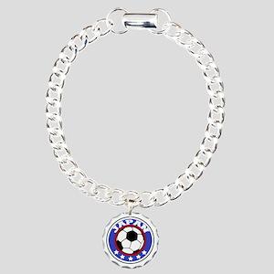 soccerjapanround Charm Bracelet, One Charm