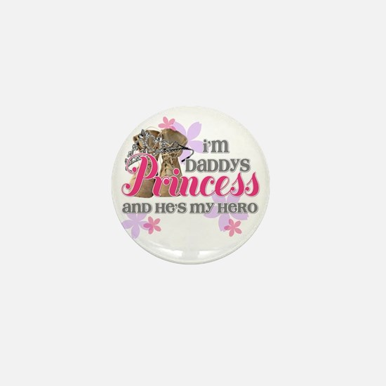 Daddys Princess Mini Button