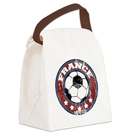 soccerfranceroundd Canvas Lunch Bag