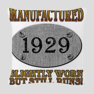 1929 Woven Throw Pillow