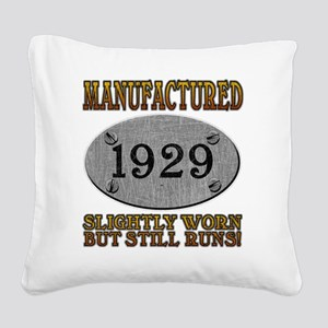 1929 Square Canvas Pillow