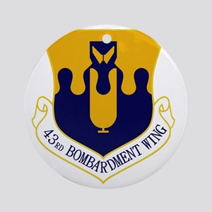 43rd Bomb Wing Round Ornament