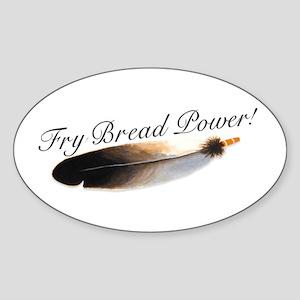 Fry Bread Power Oval Sticker