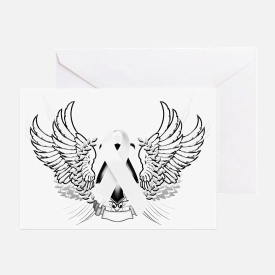 Awareness Tribal White Greeting Card