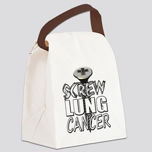Screw Lung Cancer Canvas Lunch Bag