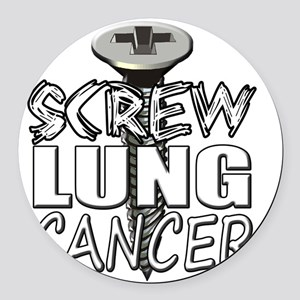 Screw Lung Cancer Round Car Magnet