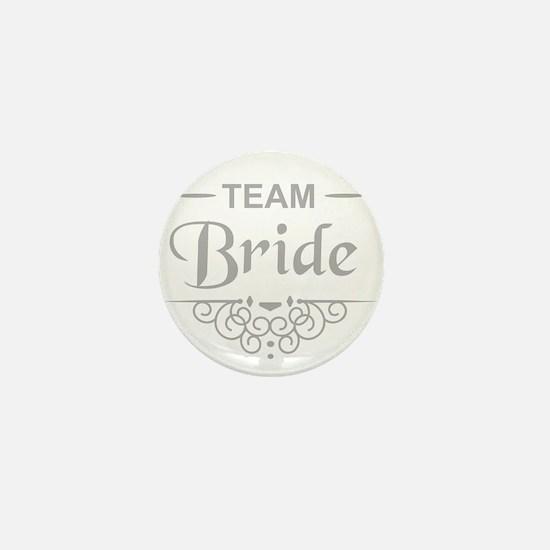 Team Bride in silver Mini Button