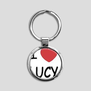 LUCY01 Round Keychain