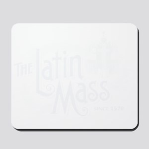 Latin_Mass_Dark Mousepad