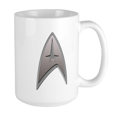 STAR TREK Silver Metallic Insignia Large Mug