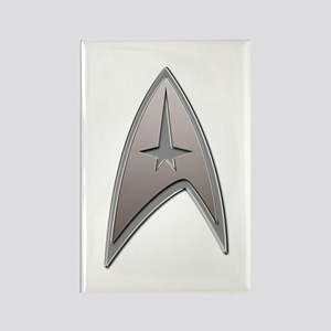 STAR TREK Silver Metallic Insignia Rectangle Magne