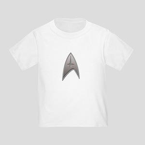 STAR TREK Silver Metallic Insignia Toddler T-Shirt
