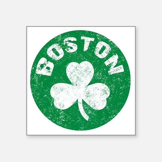 """Boston Square Sticker 3"""" x 3"""""""