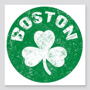 "Boston Square Car Magnet 3"" x 3"""