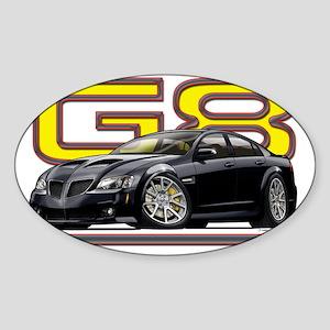 Pontiac_G8_black Sticker (Oval)