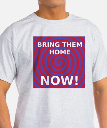 Ash Grey Tee Bring Them Home Now! Blue Red Spiral