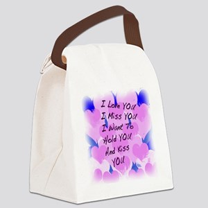 heart painting copy Canvas Lunch Bag