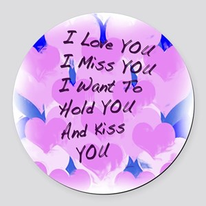 heart painting copy Round Car Magnet