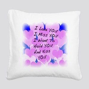 heart painting copy Square Canvas Pillow