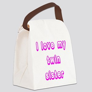 ilovemytwinsisterPINK Canvas Lunch Bag