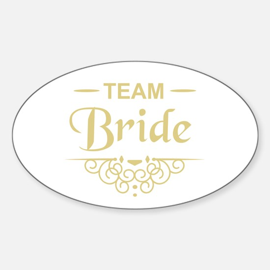 Team Bride in gold Decal