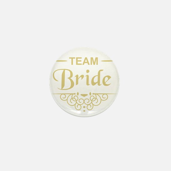 Team Bride in gold Mini Button