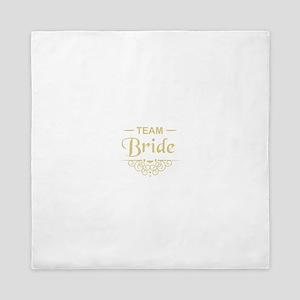 Team Bride in gold Queen Duvet