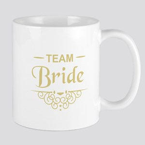 Team Bride in gold Mugs