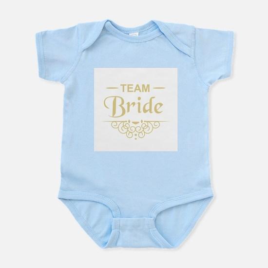 Team Bride in gold Body Suit