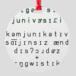 2-Phonetic MSU CSD and Linguistics  Round Ornament